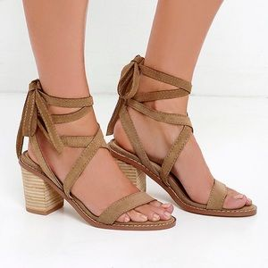 Chinese Laundry Calvary Suede Lace-Up Sandals